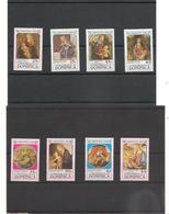 DOMINIQUE : NOËL Année 1989 N°Y/T : 1173/76** Et Blocs N° 158 Et 162** Côte: 17,00 € - Dominique (1978-...)