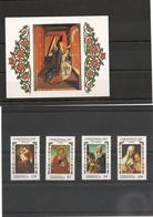 DOMINIQUE : NOËL Année 1987 N°Y/T : 983/86** Et Bloc N° 122** Côte: 17,00 € - Dominique (1978-...)