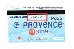 1 Carte De Bus : Parking + Journée. Aix En Provence. (Voir Commentaires) - Bus