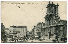 CPA - Carte Postale - Belgique - Bruxelles - Saint Josse - Eglise Et Place Saint Josse ( SV5809) - St-Josse-ten-Noode - St-Joost-ten-Node
