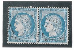 TIMBRES N° 60/1 ;  PAIRE  56/57  B2  ,  2 CLAIRS TTB - 1871-1875 Cérès