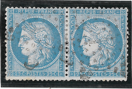 TIMBRES N° 60/1 ;  PAIRE 57/58  B2  , TTB - 1871-1875 Cérès