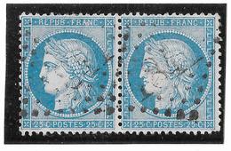 TIMBRES N° 60/1 ;  PAIRE 58 /59 B2  , TTB - 1871-1875 Cérès