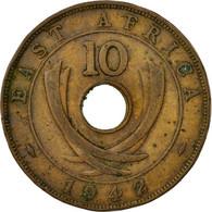 Monnaie, EAST AFRICA, George VI, 10 Cents, 1942, TTB, Bronze, KM:26.2 - British Colony