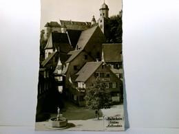 Heidenheim. AK Schloss Hellenstein. Gebäudeansicht, Brunnen, Straßenpartie, Mit Stempel 600 Jahre Stadt 1956 - Unclassified
