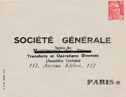 Gandon Perforé SG - 2 Scans  - Lettre Banque Société Générale - Perforés