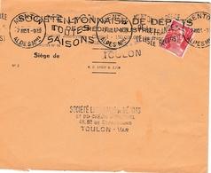 Gandon Perforé SL - 2 Scans  - Lettre Banque Société Lyonnaise De Dépôts - Menton 1951 - France