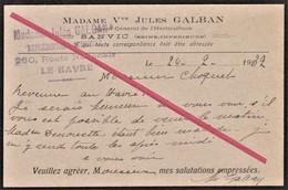 """76 LE HAVRE - Sanvic -- Horticulture_ PUB _ Madame Vve """"Jules Galban"""" _ Sanvic Changement Au 260 Route Nationale En 1932 - Le Havre"""