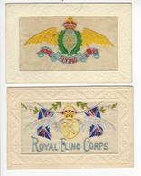 2 CARTES TISSUS BRODEES ROYAL FLYING CORPS RFC AVIATION ANGLAISE WW1 /FREE SHIPPING R - Bordados