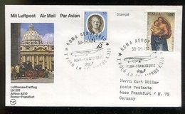 Italien / 1984 / Lupo-Brief (Erstflug) Nach Frankfurt (20018) - 6. 1946-.. Repubblica