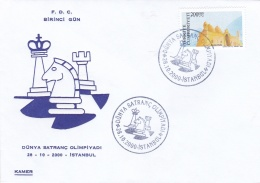 Turkey FDC 2000 Chess Olympic In Istanbul (G94-24) - Postzegels