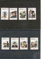DOMINIQUE :Personnalités Du Spectacle Année 1988 N°Y/T : 1035/38**-1043/46** Et Blocs N° 131**et 133** Côte : 28,00 € - Dominique (1978-...)