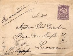 Entier Postal Iran Postes Persannes Louvain Belgique - Iran