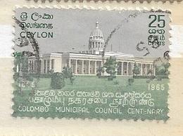 CEYLON ( SRI LANKA)   1965 The 100th Anniversary Of The City Council Of Colombo Used - Ceylon (...-1947)