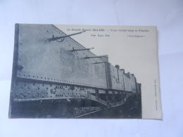 TRAIN BLINDE BELGE - Chemins De Fer