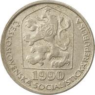 Monnaie, Tchécoslovaquie, 50 Haleru, 1990, TTB, Copper-nickel, KM:89 - Czechoslovakia