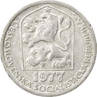 Monnaie, Tchécoslovaquie, 10 Haleru, 1977, TB+, Aluminium, KM:80 - Czechoslovakia