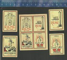 OOSTAKKER RIEME (serie 5) MEMORIAL PLACE EXECUTIONS RESISTANCE WW II EXéCUTION RéSISTANCE EXECUTIE VERZETSTRIJDERS - Boites D'allumettes - Etiquettes