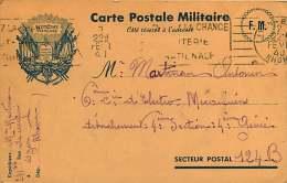 041018 GUERRE 39 45 FM - RF Liberté Egalité Fraternité Poignée De Mains 1940 Cie électro Mécanicien SP 124B - Military Service Stampless