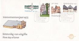 Nederland - FDC - Zomerzegels - Jachtslot St. Hubertus/Begijnhof Amsterdam/Kuipers-poort, Middelburg- NVPH E139 - Monumenten