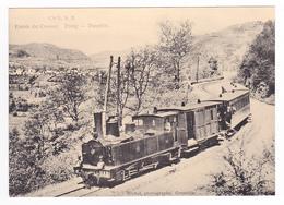 CPM TRAIN Zug VOIR DOS 38 Vers Voiron Entrée Des Gorges Du Crossey Locomotive Vapeur - Voiron