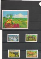 DOMINIQUE :Anniversaire De L'IFAD Année 1988 N°Y/T : 1031/34** Et Bloc N° 130** Côte : 15,50 € - Dominique (1978-...)