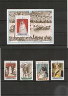 DOMINIQUE : 40ème Anniversaire Du Mariage Du Couple Royal   Année 1988 N°Y/T : 995/98** Et Bloc N° 125** Côte : 15,50 € - Dominica (1978-...)