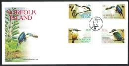 Norfolk Birds WWF Sacred Kingfisher FDC - Norfolk Eiland