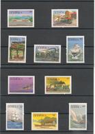 DOMINIQUE : Moyens De Transport Année 1987 N°Y/T : 963/73** Et978/982** Côte : 24,50 € - Dominique (1978-...)