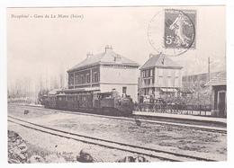 CPM TRAIN Zug VOIR DOS 38 La Gare De La Mure Vers 1900 Locomotive Vapeur Train De Voyageurs - La Mure