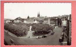 CLERMONT FERRAND 1956 PLACE DE JAUDE CARTE EN BON ETAT - Clermont Ferrand