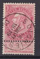 N° 58  Plis : SOIGNIES - 1893-1900 Fine Barbe
