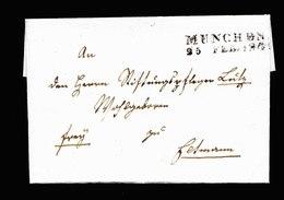 A5635) AD Bayern Brief München 25.2.1849 - Bavaria