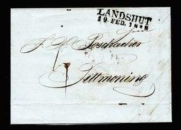 A5636) AD Bayern Brief Landshut 19.2.1848 - Deutschland