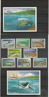 DOMINIQUE : Faune : Poissons/fishes Année 1988 N°Y/T : 1076/79**-1084/87** Et Blocs N° 142 Et 144** Côte : 29,50 € - Dominique (1978-...)