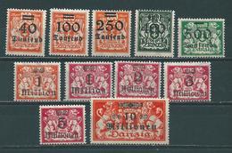 MiNr. 158-168 (0626) - Danzig