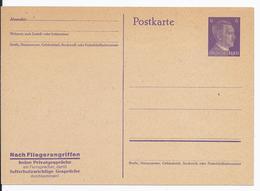 Dt.- Reich (001763) Propaganda Ganzsache P312/ 04, Nach Fliegerangriffen ......, Ungebraucht - Alemania