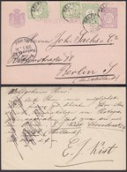 Pays Bas 1891 - Entier Postal Vers Berlin - Allemagne.  Ref. (DD) DC-MV-028 - Postal Stationery