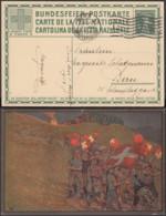 Suisse 1912- Entier Postal Illustré Vers Lierre-Belgique. Fête Nationnale.  Ref. (DD) DC-MV-073 - Entiers Postaux