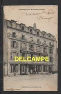 DD / 25 DOUBS / BESANÇON / CLIENTS ET PERSONNEL POSANT DEVANT LE GRAND HÔTEL DE LA COURONNE / CIRCULÉE EN 1906 - Besancon