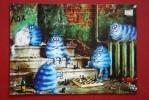 """Game"" By Rina Zenyuk  - ECHECS - CHESS - ECHECS - Modern Ukrainian Postcard - Cat - Decardcard Edition 2015 - Echecs"
