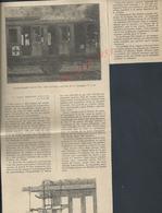MILITARIA 14/18  COUPURE DE PRESSE MILITAIRE DU JOURNAL ILLUSTRATION COMPARTIMENTS TRAIN SANITAIRE CROIX ROUGE - 1914-18