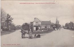 HEUDEBOUVILLE - Route De Rouen Et Route De Louviers - Charrette Tirée Par Un âne - Epicerie-Mercerie - Animé - Frankreich