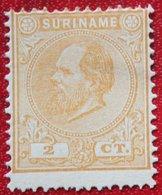 Koning Willem III 2 Ct NVPH Nr: 2 1873 1885 No Gum MH / Ongebruikt SURINAME / SURINAM - Surinam ... - 1975