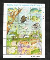 DOMINIQUE : FAUNE MARINE  Année 1990 N°Y/T : 1187/1204**  Côte : 15,00 € - Dominique (1978-...)