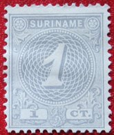 1 Ct Cijfer NVPH 16 1890-1893 MH / Ongebruikt No GUM SURINAME / SURINAM - Surinam ... - 1975
