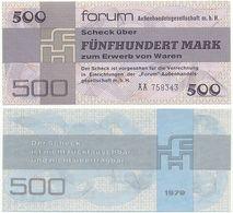 DDR 1979, 500 Mark, Forumscheck, Aussenhandelsgesellschaft, Geldschein, Banknote - [14] Forum-Aussenhandelsgesellschaft MBH