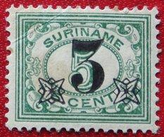 Hulpuitgifte Overprint 3 Ct Op 5 Ct  NVPH Nr: 111 1925 MH / Ongebruikt SURINAME / SURINAM - Surinam ... - 1975