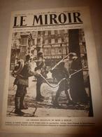 1919 LE MIROIR:Emeute à Berlin;Héroïques Blak Soldiers 15e Rgt US;Lenox-Avenue New-York;Ehrenbreitstein;Ostende;etc - Französisch