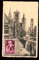 Belgique - Carte Maximum 1956 - Gand - Eglise Saint Nicolas - O 181 - Maximum Cards